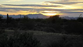 Duży niebo przy Tucson góry parkiem przy zmierzchem obraz stock