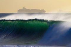 duży oceanu statku kiści fala Fotografia Royalty Free