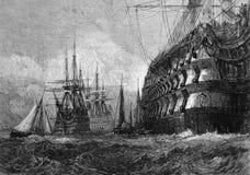 duży okręt wojenny Fotografia Royalty Free