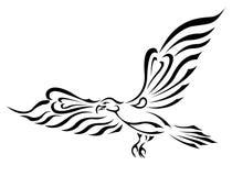 duży orła latający wolności symbolu tatuażu skrzydła Obraz Royalty Free