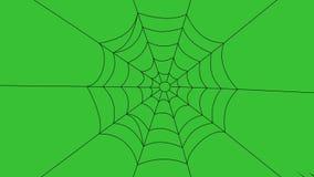Duży pająk, przychodzi od 4 kątów pajęczyna ilustracja wektor