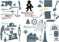 Duży pirata set royalty ilustracja