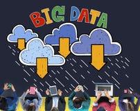 Duży przechowywanie danych bazy danych ściągania pojęcie Obrazy Royalty Free