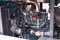 Duży przemysłowy silnik diesla zdjęcia royalty free