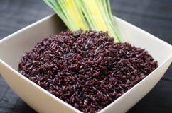Duży puchar gotujący czerwoni ryż obrazy stock