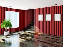 Duży pusty pokój Obrazy Royalty Free
