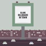 Duży Pusty Reklamowy billboard W miasteczku Zdjęcia Stock