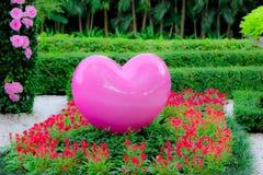 Duży różowy serce Zdjęcie Stock