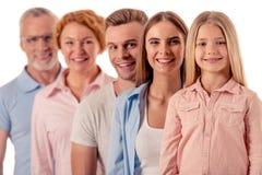 duży rodzinny szczęśliwy Fotografia Royalty Free