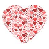 Duży serce komponujący od małych serc Fotografia Royalty Free