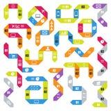 Duży set infographic nowożytni szablony Lampasy dla sztandarów, biznesowi tła, prezentacje Obraz Royalty Free