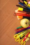Duży set jaskrawy biura jabłko i narzędzia Zdjęcia Stock