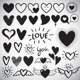 Duży set różni projekta serca szablony ilustracji