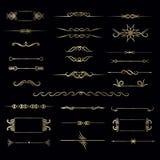 Duży set ręka rysująca rocznik rama dla tekst dekoraci w vecto Zdjęcia Royalty Free