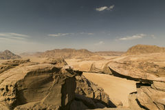Duży skała most w wadiego rumu pustyni, Jordania Fotografia Royalty Free