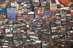 Duży slamsy w Ameryka Południowa, Rocinha, Rio De Janeiro, Brazylia fotografia stock
