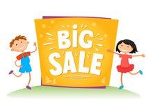 Duży sprzedaż plakat dla szkolnego tematu Obraz Royalty Free