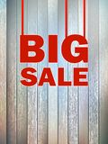 Duży sprzedaż tekst na drewnianym tle. + EPS10 Zdjęcie Stock