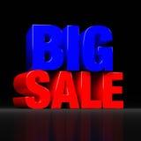 Duży sprzedaż znak na ciemnym tle Obrazy Royalty Free