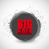 Duży sprzedaży czerni atramentu farby biznesu znak Fotografia Stock