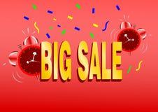 Duży sprzedaży promoci sztandar lub reklama Obrazy Stock