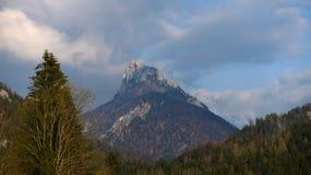 Duży szczyt w Alps Zdjęcia Stock