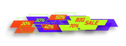 duży sztandar sprzedaż Obrazy Stock
