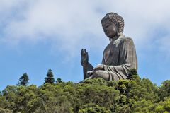 Duży Tian dębnik Buddha na Lantau wyspie, Hong Kong, Chiny obrazy royalty free