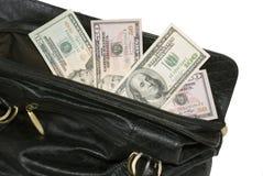 duży torba pieniądze Obrazy Stock