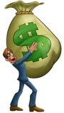 duży torba pieniądze Fotografia Stock