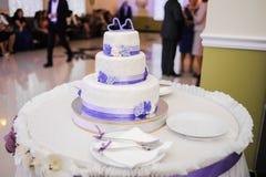 duży tortowy ślub Zdjęcie Stock