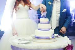 duży tortowy ślub Zdjęcia Royalty Free