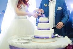 duży tortowy ślub Fotografia Royalty Free