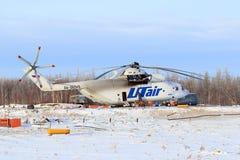 Duży w świacie Rosyjski transportu MI-26T helikopter Zdjęcia Stock
