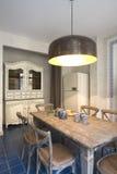 duży wewnętrzna kuchenna lampa Obraz Royalty Free