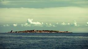Duży wierza w forcie Christiansoe Bornholm na morzu bałtyckim Dani Scandinavia Europa obraz stock