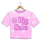 duży wieszaków sprzedaży koszula t Fotografia Stock