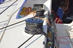 Duży Winch drużyny Vestas wiatr Fotografia Royalty Free