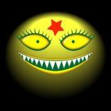 duży zła głowy potwora uśmiech royalty ilustracja