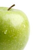 duży zakończenie jabłczana duży zieleń Zdjęcie Royalty Free