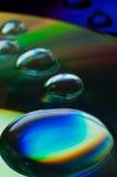 duży zbliżenia ścisłego dyska kropelek woda Zdjęcia Stock