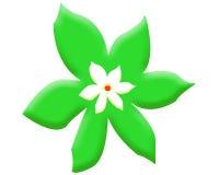 Duży zielony kwiat Tło wally Obrazy Royalty Free