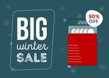 Duży zimy sprzedaży plakat Obraz Stock