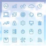 25 dużych dane, baz danych ikony ustawiać Obraz Stock