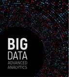 Dużych dane wizualni energetyczni fractals Technologii sieć infographic Ewidencyjny analityka projekt również zwrócić corel ilust royalty ilustracja