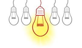 Dużych pomysłów kreatywnie żarówka Obrazy Stock