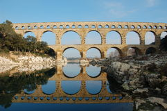 du法国gard pont 免版税图库摄影