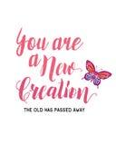 Du är en ny skapelse royaltyfri illustrationer