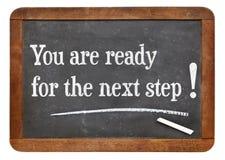 Du är för nästa steget! Arkivbild