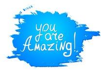 Du är fantastisk! Calligraphic inspirerande design för vektor Arkivbilder